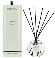 Stoneglow Candles Modern Classics GREEN FIG & CEDAR Reed Diffuser Gift Boxed